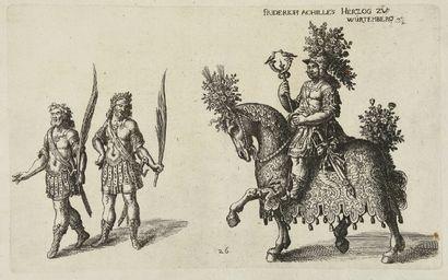 CARROUSELS, FETES et TOURNOIS par les Princes d'Allemagne. Album de 170 planches...