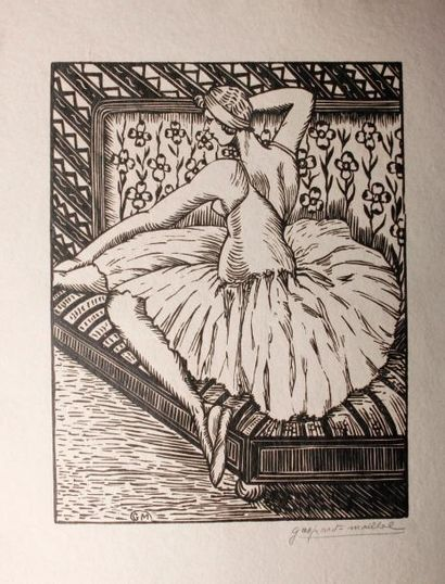 [Danse]. MAILLOL (Raphaël Joseph Gaspard). Danseuses. Préface de Jane Hugard de...