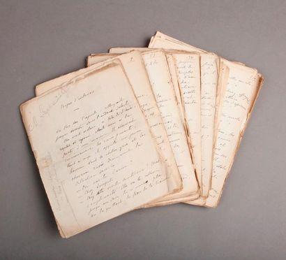 CALLET (Charles. 1856-1931) Myrrhine, roman grec. Manuscrit autographe signé [1904]....