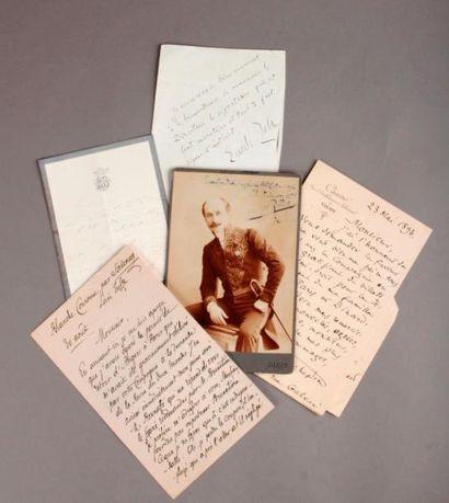 [FOULON (Alfred)]. Lot de lettres, billets,...