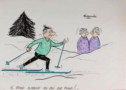 ALEXANDRE. «Il fond grâce au ski de fond!»...