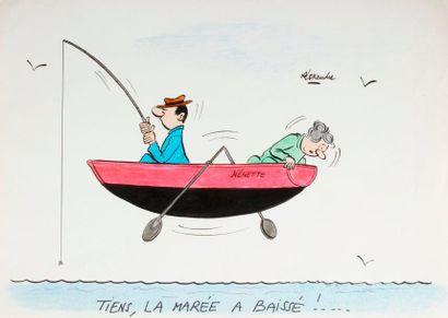 ALEXANDRE. «Tiens, la marée a baissé!»...