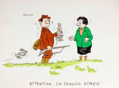 ALEXANDRE. «Attention, la femelle attaque!»...