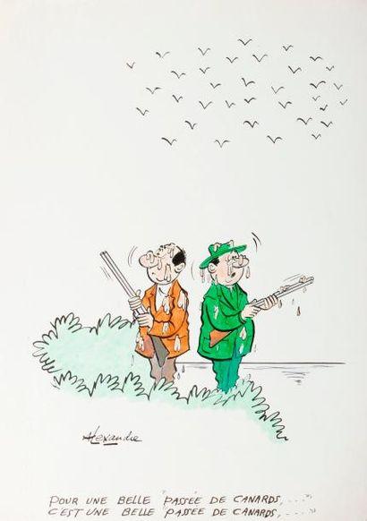 ALEXANDRE. «Pour une belle passée de canards…»...