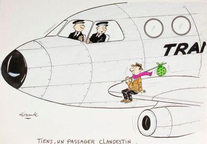ALEXANDRE. «Tiens, un passager clandestin»....