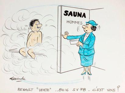 ALEXANDRE. «Sauna. Renault verte 8416 SV...