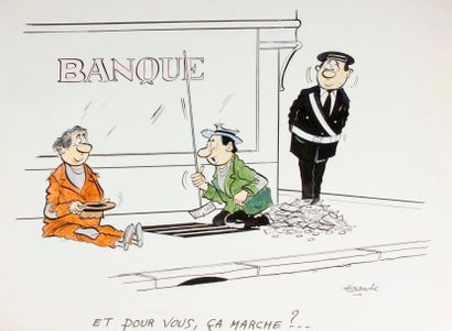 ALEXANDRE. «Banque. Et pour vous, ça marche?»...