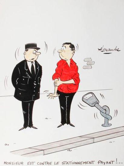 ALEXANDRE. «Monsieur est contre le stationnement...