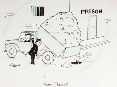 ALEXANDRE. «Prison. Sans Paroles» Encre...