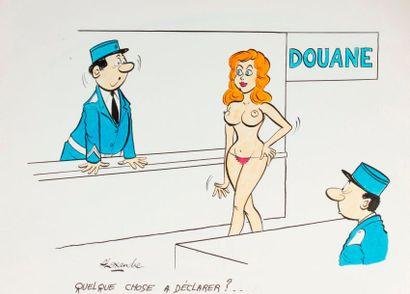 ALEXANDRE. «Douane. Quelque chose à déclarer?»...