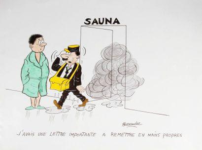 ALEXANDRE. «Sauna. J'avais une lettre importante...