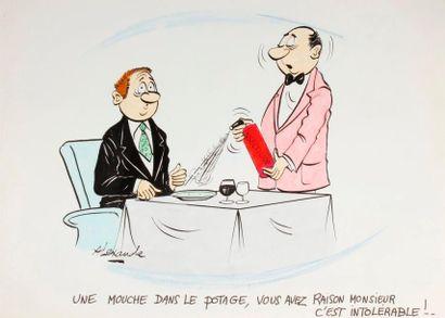 ALEXANDRE. «Une mouche dans le potage, vous avez raison monsieur, c'est intolérable!»...