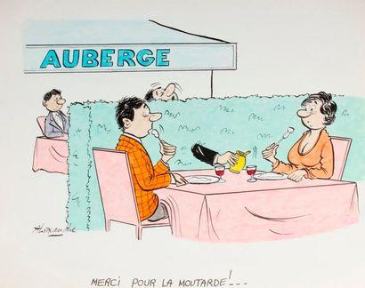 ALEXANDRE. «Merci pour la moutarde!» Encre...