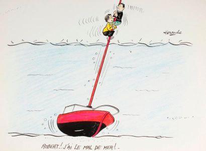 ALEXANDRE. «Robert, j'ai le mal de mer»....