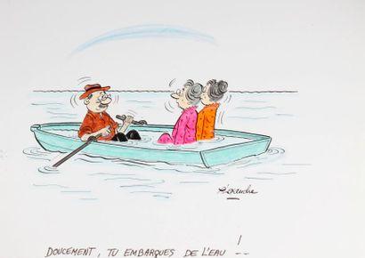 ALEXANDRE. «Doucement, tu embarques de l'eau!»...