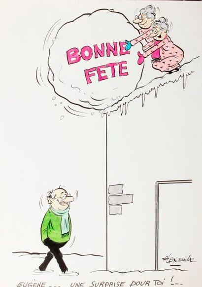 ALEXANDRE. «Bonne Fête. Eugène, une surprise...