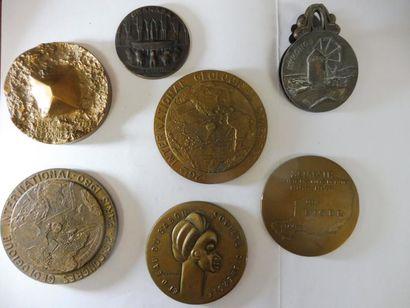 6 MEDAILLES en bronze: Ecole des mines de...