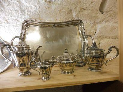 SERVICE THE-CAFE modèle Louis XV aux entrelacs...