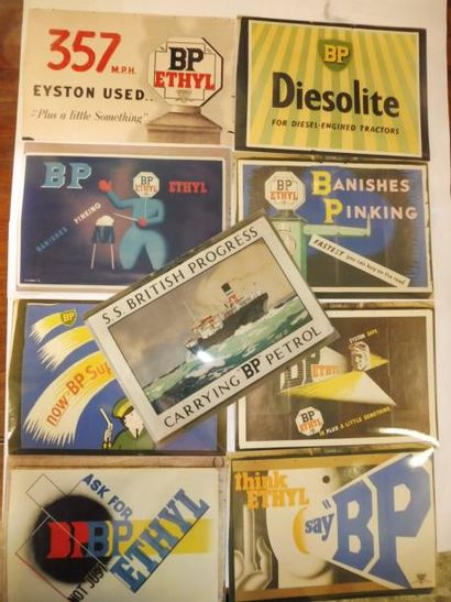 De la marque d'essence BP : 11 PINS différents : SPORT AIR BP, PRESSE PAPIER, CADRE,...