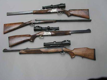 Fusil express à canons superposés, calibre...