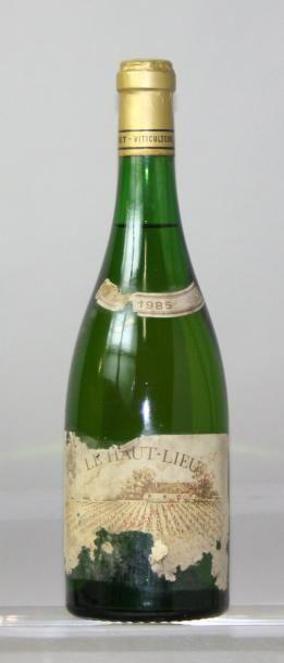 """Une bouteille VOUVRAY """"Le Haut Lieu"""" 1er..."""