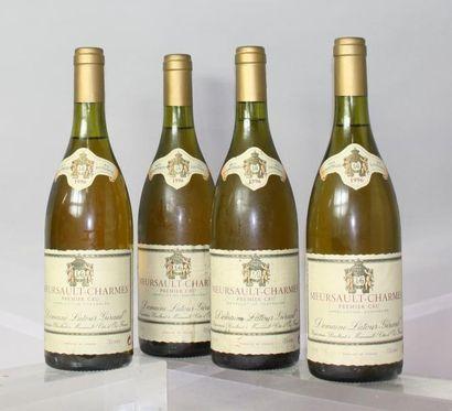 """Quatre bouteilles MEURSAULT 1er """"Charmes""""..."""