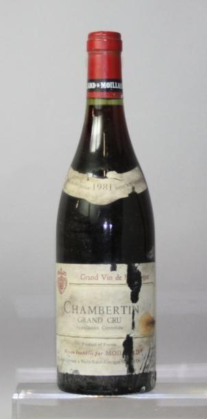 Une bouteille CHAMBERTIN Grand cru - MOILLARD...