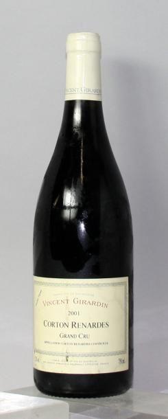 Une bouteille CORTON RENARDES - DOMAINE VINCENT...