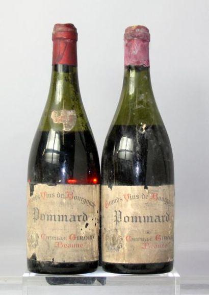 Deux bouteilles POMMARD - CAMILLE GUIROUD...