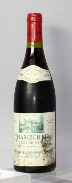 Une bouteille CHAMBERTIN CLOS DE BÈZE - JACQUES...