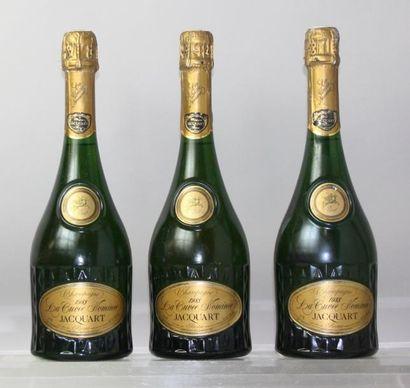 """Trois bouteilles Champagne JACQUART """" La..."""