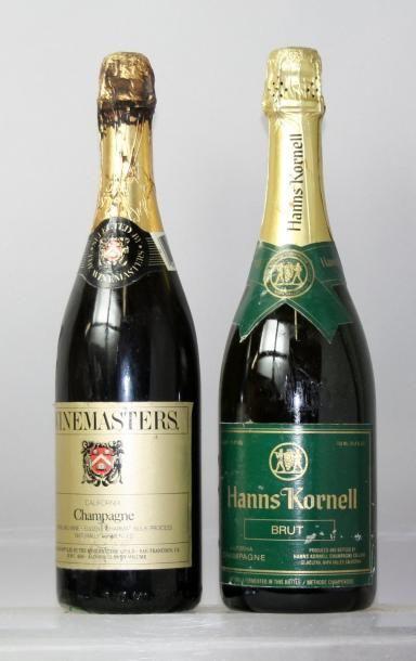 """Deux bouteilles VINS DE CALIFORNIE """"METHODE..."""