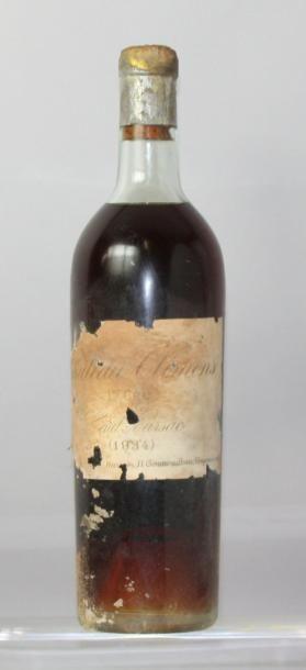 Une bouteille Château CLIMENS 1er CC - Sauternes...