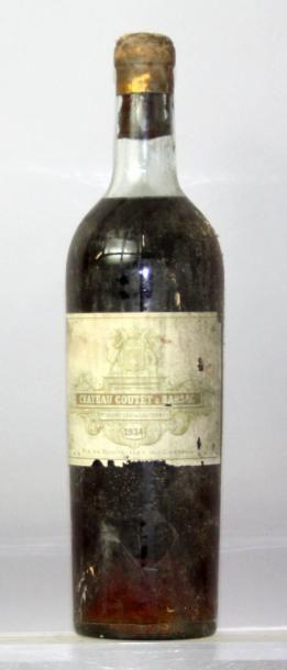 Une bouteille Château COUTET 1er CC - BARSAC...