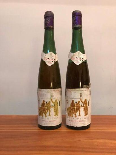 "Deux bouteilles ALSACE - Riesling ""Kitterle""..."