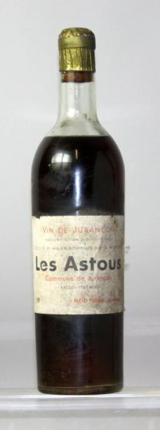 """Une bouteille JURANÇON - """"LES ASTOUS"""" - HEID..."""