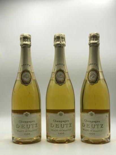 3 bouteilles CHAMPAGNE Deutz Blanc de Blancs...