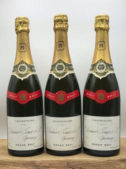 3 bouteilles Champagne Perrier-Jouët Grand...