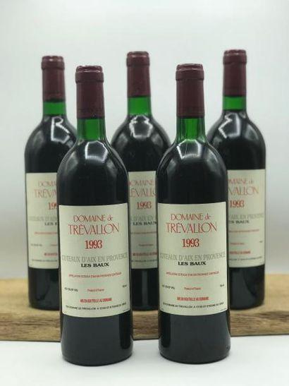 5 bouteilles Domaine Trevallon 1993