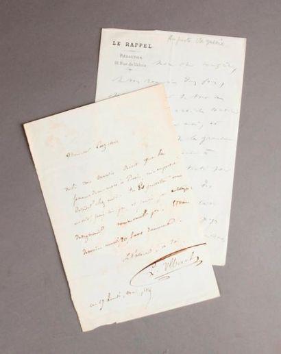 [Hommes de Lettres]. Réunion d'autographes...