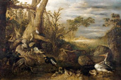 Attr. à Roeland SAVERY (Courtrai 1575 - Utrecht 1639)