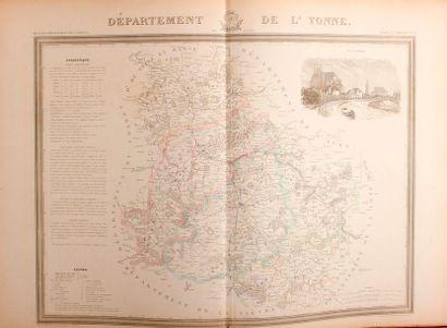 ATLAS GÉNÉRAL DE FRANCE, divisé par départements...