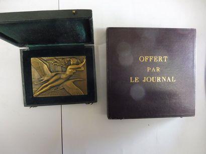 2 MEDAILLES relatives à l'aéronautique bronze...