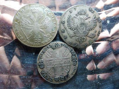 3 PIECES de monnaie en argent