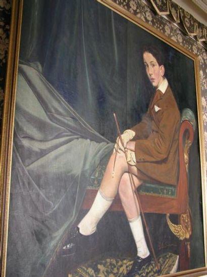 Attribué à Paolo antoine SIMONI (1882-1960) Portrait...