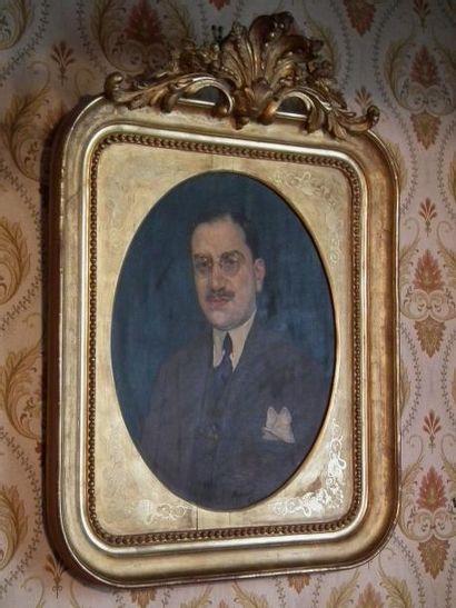Marcel CANET (XXe siècle) Portrait d'homme. Huile...