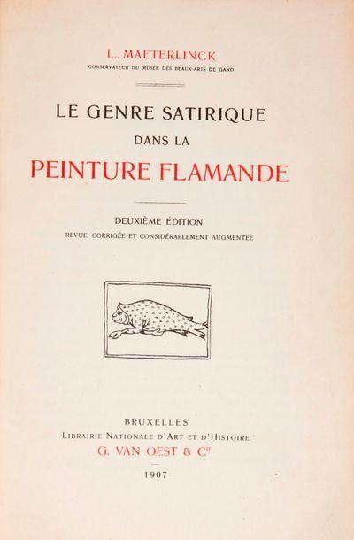 [Peinture Flamande]. MAETERLINCK (Louis)....