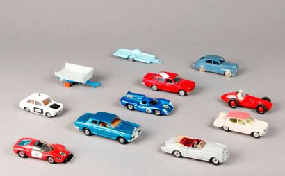 DINKY TOYS – CORGI TOYS – TEKNO : 10 voitures...