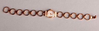 ZENITH MONTRE bracelet de femme en or jaune 18 carats, boitier et mailles circulaires,...