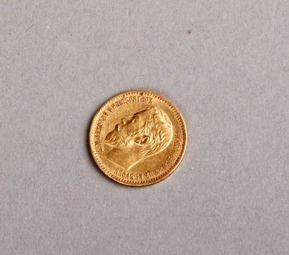 PIÈCE de 5 roubles en or. Russie, 1897. Pds:...